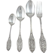 French Sterling Silver Flatware Set 53 pieces