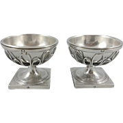 19th French Sterling Silver salt cellars