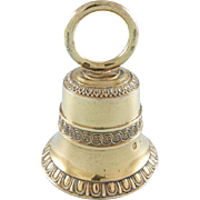 19th French Sterling Silver gilt Bell