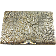 Russian Solid Silver Cards holder case