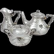 Art Nouveau Solid Silver Tea service - Tea pot