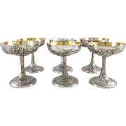 19th Sterling silver fruits / dessert cups