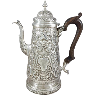 18th Solid Silver Coffee Pot