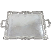 19th French Sterling silver serving tray platter