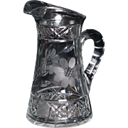 Vintage Hand Cut Crystal Pitcher