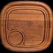 Dansk Staved Teak Wood Cheese Tray