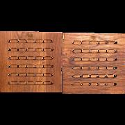 Dansk Danish Modern Wood Trivets