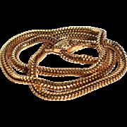 Unique Convertible 18k Gold Snake Necklace Antique Victorian Golden Snake Necklace or Bracelet Antique Convertible Necklace Golden Serpent Choker Statement Golden Snake Fine Estate Golden Necklace Antique Statement Cobra Necklace