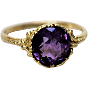 Vintage 14k White Gold Amethyst Ring Vintage Art Nouveau Amethyst Ring 1900s Promise Amethyst Ring 1900s Vintage Engagement Ring