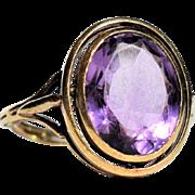 Antique Italian Oval Amethyst Ring 19th Century Italian Jewelry Antique Cocktail Amethyst Ring Vintage Oval Amethyst Ring 1850s Jewelry