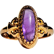 Antique French Amethyst Ring 19th Century French Jewelry Antique Baroque Amethyst 18k Gold Ring Vintage Amethyst Ring 1800s Jewelry