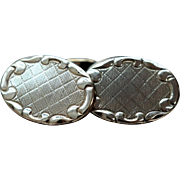 Vintage Oval Silver Cufflinks Art Deco Sterling Silver Cufflinks Vintage Unisex Cufflinks 1920s Jewelry Gift Ideas for Dad Gift for Him