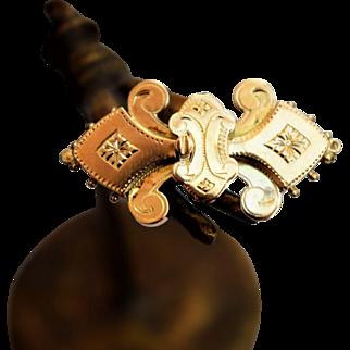 Antique 14K Golden Brooch Christmas Gift Antique Bible Lock Brooch Antique Bow Tie Brooch Golden Fleur-de-Lis Brooch