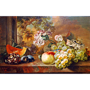 Early 19th Century English Oil on Board By George Lance (1802-1864)