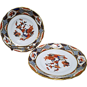 Set of 2 Spode Copelands England Imari Style Saucers Pattern #R3210