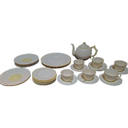 30 Piece set of Limpet Belleek Dish Set, Dinner Plates, Salad Plates, Bread Plates, Tea Pot, Cups and Saucers