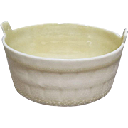 Belleek Barrel Shaped Butter Tub 6th Mark-Green Dates from 1965 to 1980