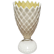 Belleek Feather Vase with 6th Mark - Green - 1965 to 1980