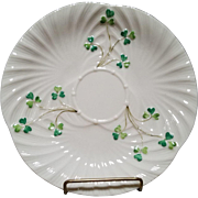 Belleek Harp Shamrock Salad Dessert Plate - 3rd Mark - Black - 1926 to1946