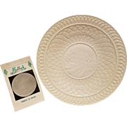 Belleek Tribute to Yeats Christmas Plate 1973 with 6th Mark Green