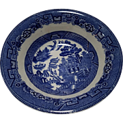 "Allerton's Blue Willow ""Smooth"" Serving Vegetable Bowl"
