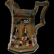 """Deldare Ware Buffalo Pottery 1909 Pitcher """"It amazes me"""""""