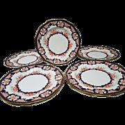 8 Antique Royal Crown Derby Imari Dinner Plates - Pattern Number 3653