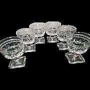6 Sherbet Dessert Glasses by Indiana Glass Colony Park Lane Pattern