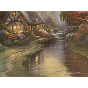 "Signed Thomas Kinkade 1998 Limited Number Publisher Proof of ""A Quiet Evening"""