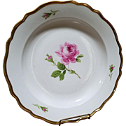 Vintage Meissen Pink Rose Large Serving Platter Bowl