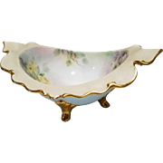 Antique Limoges Footed Scalloped Edge Bowl