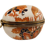 Hand Painted Imari Egg Shaped Trinket Box from Neiman Marcus