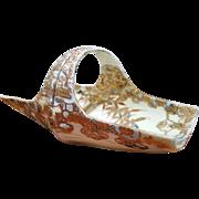 Signed Nippon Porcelain Gold Enamel Gilded Basket –Edo Meiji Period – Rare