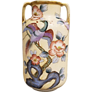 Nippon 2 Handled Vase Marked Morimura Bros.