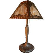 Antique Royal Art Glass Co. Slag Lamp