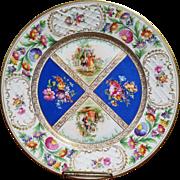 Victorian Design Schumann Dresden Serving Plate Platter