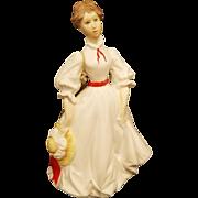 "Vintage Royal Worcester Woman Figurine "" Morning Walk"""