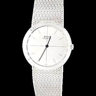 18K White Gold Piaget 34mm Automatic Watch Circa 1960