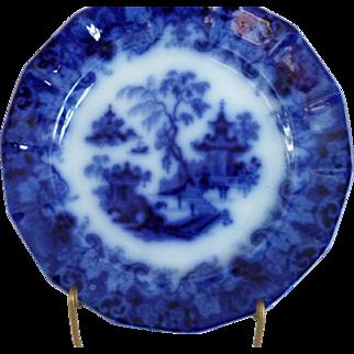 SCINDE Pattern Flow Blue Plate by Thomas Walker