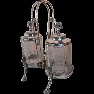 Meriden & Co. Dual Pickle Castor, Model #140, 1882-1883