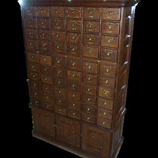 Quarter Sawn Oak Collectors File Cabinet