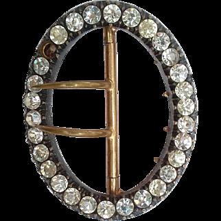 Oval Paste Georgian Brooch on Untested metal