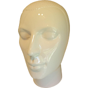 Vintage Ceramic mannequin royal delft head 1970s