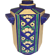 Charles Catteau Vase with hexagonal section with three ornamental handles