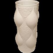 mid century Hutschenreuther BISQUE Porcelain Vase German OP pop Art by Heinrich