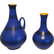Bay vintage West-Germany mid-century set contura vase