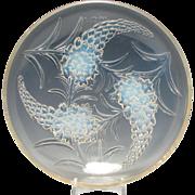 Rene Lalique Opalescent Veronique Glass Bowl c1920