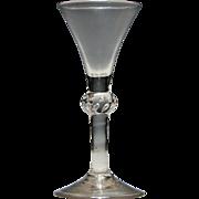 18th Century Composite Stem Wine Glass c1750