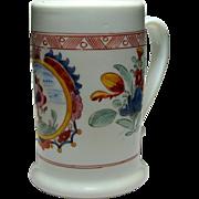 18th Century Bohemian Milk Glass Tankard