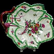 First Period Worcester Leaf Dish 1765-1770